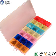 high quality 7days Food Safe red Plastic Wholesale Pill Box for 21 compartment