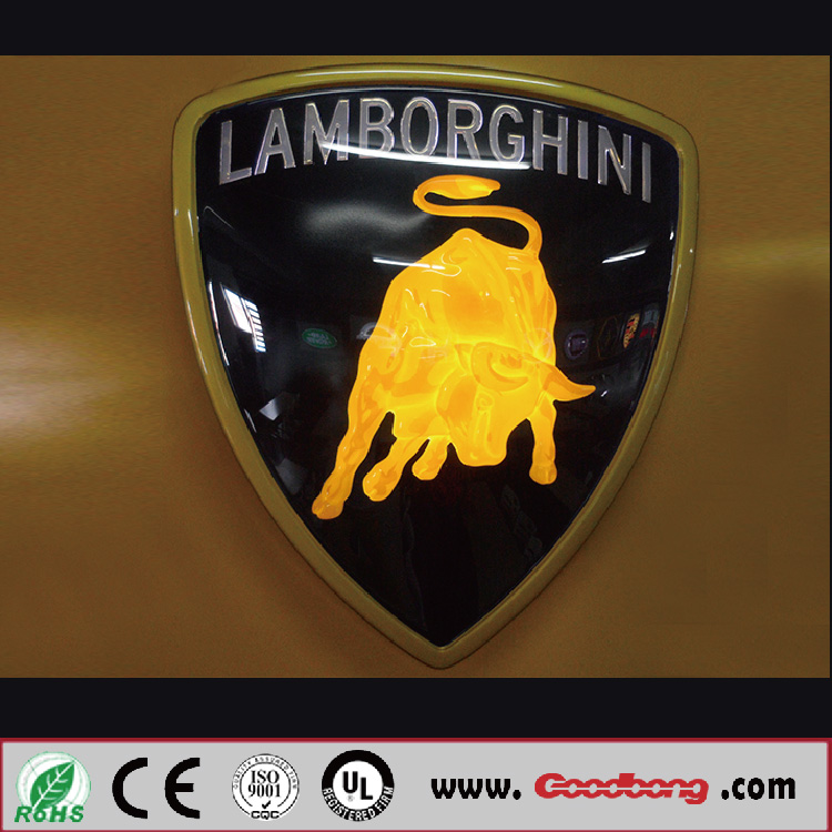 The customized luxry chrome metal car emblem car accessories logo,lighted car emblem