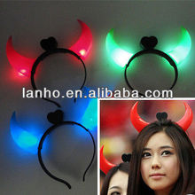 NEW LED Devil Horns Flashing Novelty Light Up Headband for Halloween