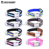 2016 China manufacturer eco friendly Fabric Dog Collar and leash