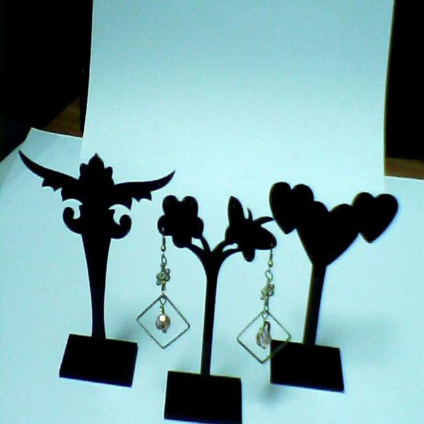 decorative black tree jewelry display earrings mannequin