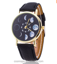 japanese movement watch ,women watch ladies,moon phase 3D watch