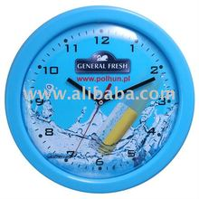 Promotional plastic wall clock 13""