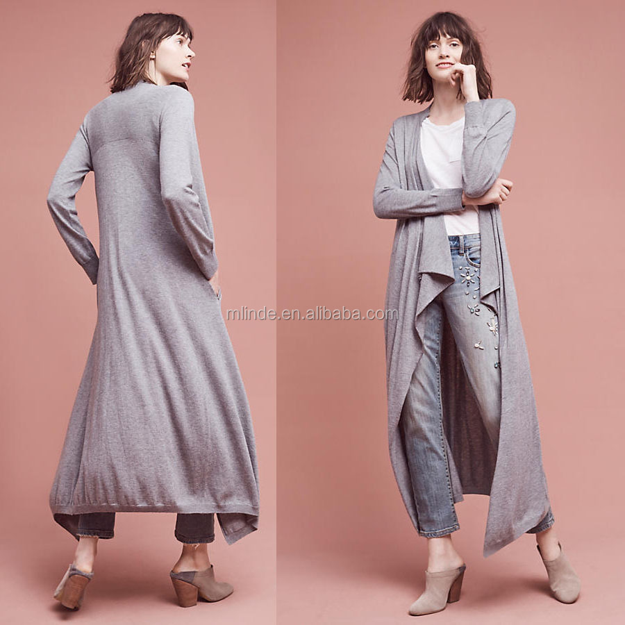 Hot New Fashion Design Women Open Front Sweater Long Cardigan Sweater Wholesale Custom Clothing China Agent Apparel Sweaters