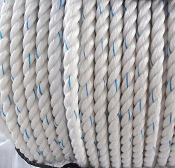 Degradable blue 12 mm 3 strands twisted polysteel rope/ pp danline rope