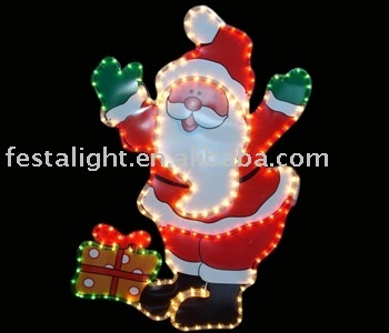 Santa Claus motif rope light for chrismas day