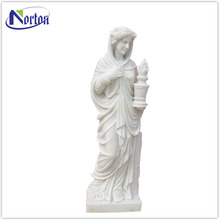 Hand carving beautiful nude lady stone statue NTBM-515A