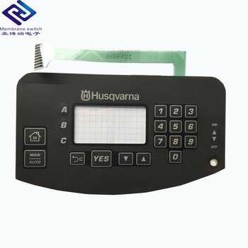 2018 New Embossed Keys Metal Dome Tactile Membrane Switch Keypad With Led Intergrated