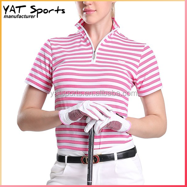 Small quantity order 100% cotton sports Apparel women golf polo shirt