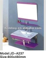 New style coloured bathroom glass basin vanity