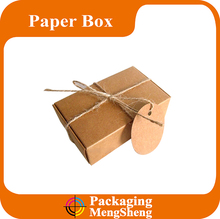 Cheap recycled small square handmade kraft soap paper box with logo printing