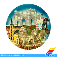 customized madrid resin plate carved in relief