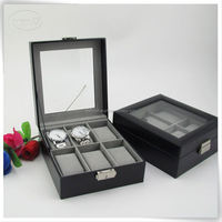 6 slots Leather watch collector box