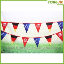 High quality All kinds String Flags / pvc Buntings/Triangle String Flag