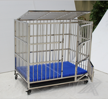 Heavy Duty Dog Crate,Large Metal Strong Dog Kennel Cage with Tray and Wheels