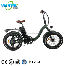 48V 500W Lowrider E-<strong>Bike</strong> 20&quot; Fat Tire Folding Electric <strong>Bike</strong> For Ladies