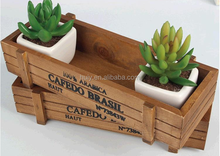 Wooden rectangular planter boxes for sale