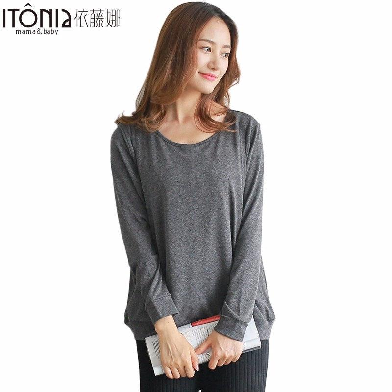 Drop shipping soft maternity clothes top for nursing