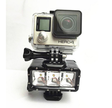 GoPros Heros 4 LED vedio shooting photo camera light for Go Pro Heros 4 3+/3/2/1 camera accessories