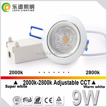 super warm sunset dim dimmable 75mm cutout led downlight with high quality ce&rohs approved ip44
