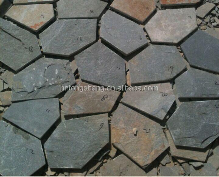 exterior suelos de pizarra de malla de piedra jardn de