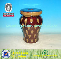 modern style brown Chinese porcelain garden stool