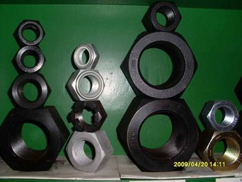 Hex Nuts Black