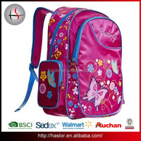 Europe Style School Bag Butterfly Design Picture of School Bag for Primary School