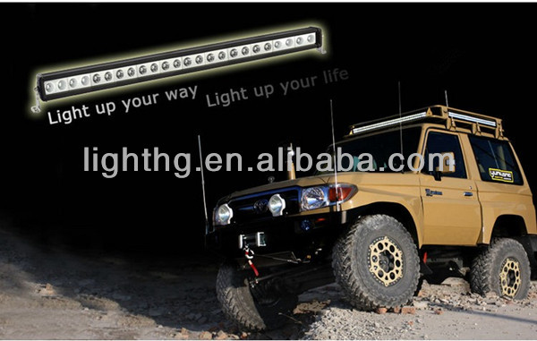 "HG-8611-240 40"" CREE 12V 240w Single Row led light bar for trucks,Car,Jeep,motorcycle,Atv"