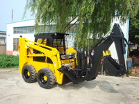 China Brand New XCMG 60HP Electric Skid Steer Loader XT750 With Backhoe