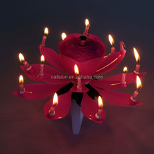 lotus birthday candle indoor fireworks triangl stand