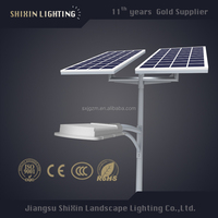 solar pv panels 150w light with LED street antique lighting pole