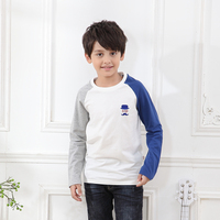 Long sleeve autumn clothing boy 6 years children garments latest new model T- shirts