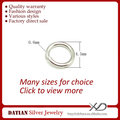 XD P05004 0.6x4.5mm Sterling Silver Jump Ring Silver 925 Jewelry Finding Rings
