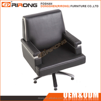 Luxury ergonomic style executive boss mid back black PU leather cover modern office chairs from China