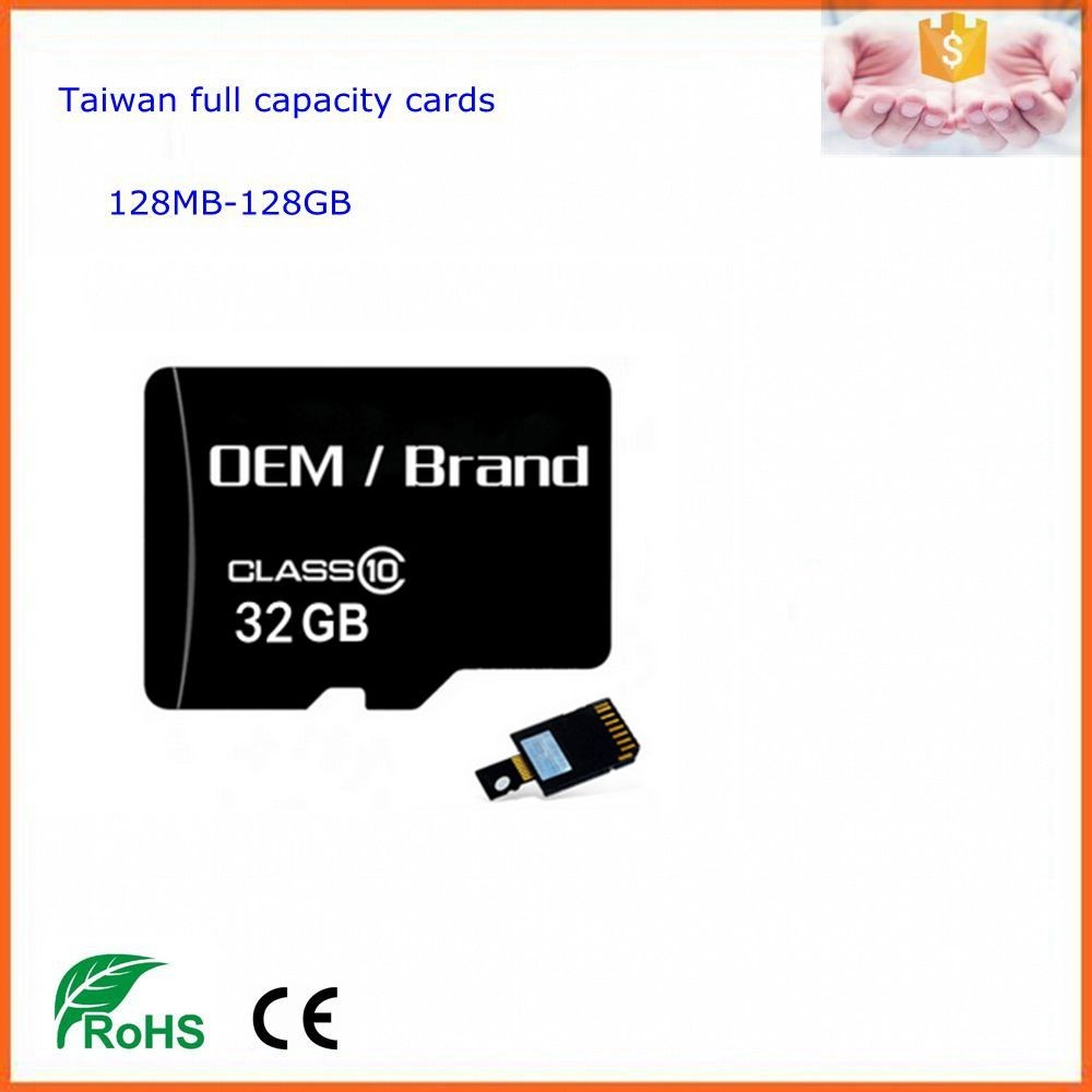 taiwan high quality micro size sd card 2gb 4gb original 8gb 16gb 32gb class 10 memory cards 64gb 128gb 100% full capacity