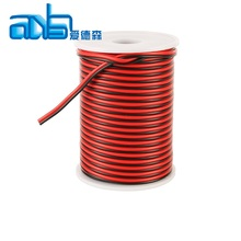 Red black 24awg CCA audio/video aux speaker cable