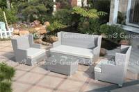 PE rattan Aluminium material garden rattan sofa/indoor rattan furniture