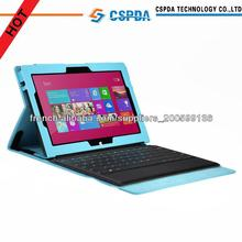shenzhen manufacturer Quality top selling PU leather portfolio keyboard protective case for Microsoft Surface Pro II tablet