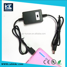 3Meter DC 12V-24V to 5V 2.1A Rigth Angled 90 Degree Mini USB Power Converter Cable, USB Am to Dc5.5*2.1mm