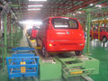 electronics assembly for car production line