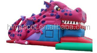 HI EN14960 0.55mmPVC huge dinosaur inflatable slide