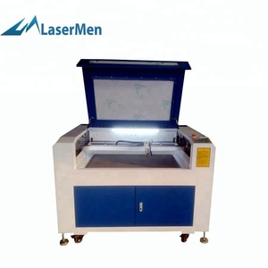 6090 co2 small paper leather laser cutting machine with competitive price