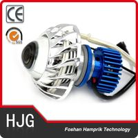 2200LM high Lumens motorcycle angel eyes headlight with cheap