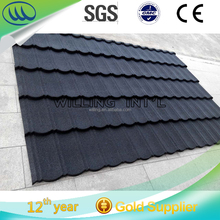 quality guaranteed metal roofing sheet/2017 new design stone coated steel roof tile