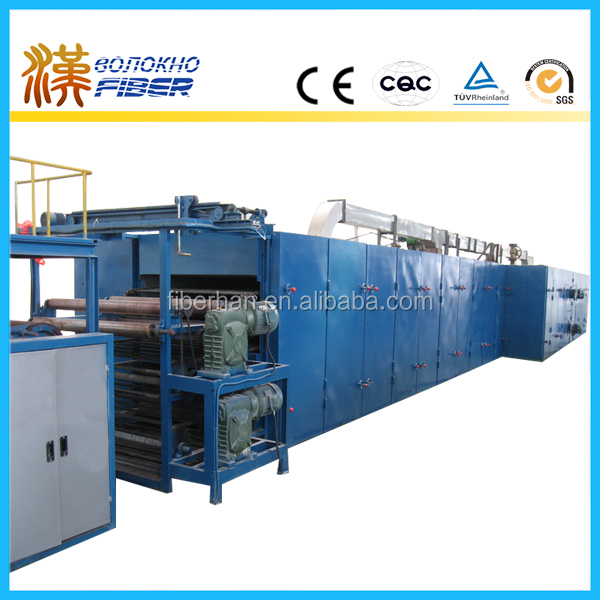 non-adhesive thermo bonding nonwoven production line, non-glue thermo bonding wadding production line