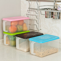 Sealed cans with handle refrigerator storage box kitchen cabinet plastic storage box with lid 350g