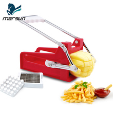 perfect kitchen helper easy use amazing multi-functional plastic manual french fries chips cutter potato chopper