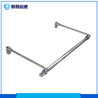 High quality support side arm zinc alloy metal display coat holder