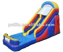 Backyard cheap big inflatable kids water slide with pool for sale